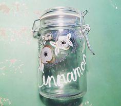 Large spice jar, bathroom jar, gifts for her, gifts under 20
