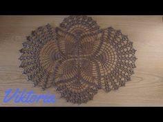 Tutorial Parte1/2 - Centrino Farfalla all'uncinetto - YouTube