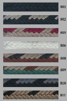 Two Toned Braided Split Reins Parachute Cord