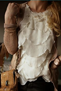 beautiful ruffle blouse