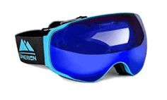 Spherion Gear Ski Goggles + Detachable Amber Lens, Size: One size, Blue Best Ski Goggles, Snowboard Goggles, Snow Boots, Winter Boots, Snowboarding, Skiing, Dirt Bike Gear, Summer Vacation Spots, Fun Winter Activities