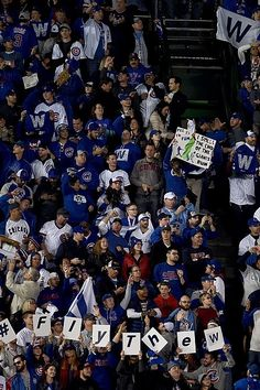Fans at Wrigley//Oct 8, 2016 Game 2 NLDS v SF