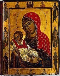 Богоматерь с Младенцем и избранными святыми в клеймах