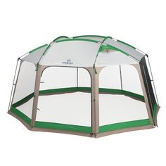OutdoorsTM 14 x 12 Deluxe Screen House  Durable Steel Poles Polyester Construction Waterproof Seal Fully Bound Seams Outdoor and Summer Activities Camping Trips and Travels Hiking Equipment ** More info could be found at the image url.