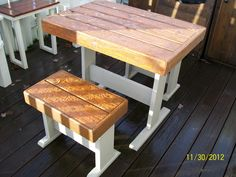 Bistro set from pallets
