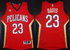 New Orleans Pelicans #23 Anthony Davis Revolution 30 Swingman Red Jersey