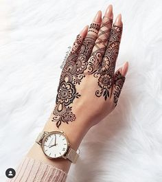 Top Easy, Simple and Latest Henna Arabic Mehndi Designs - Sensod - Create. Pretty Henna Designs, Modern Henna Designs, Indian Henna Designs, Floral Henna Designs, Finger Henna Designs, Henna Art Designs, Mehndi Designs 2018, Mehndi Designs For Girls, Mehndi Design Pictures