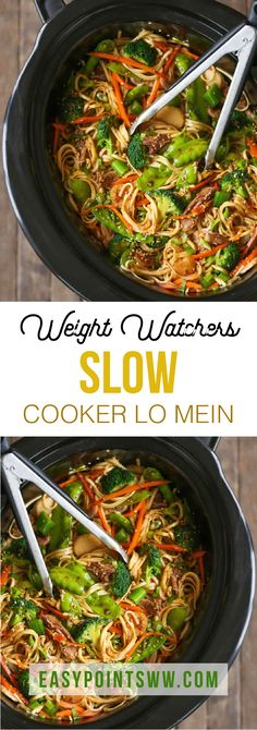 ideas weight watchers meals dinner healthy for 2019 Ww Recipes, Slow Cooker Recipes, Asian Recipes, Chicken Recipes, Cooking Recipes, Healthy Recipes, Crockpot Meals, Healthy Lo Mein Recipe, Recipies