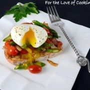 amazing breakfast recipes - picture = Soft Boiled Egg over Vegetable Sauté and Toast
