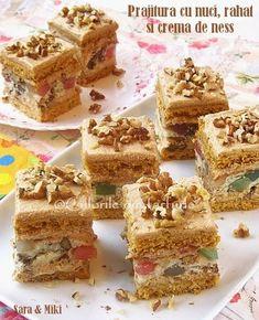 Romanian Desserts, Romanian Food, Romanian Recipes, Cake Videos, Food Cakes, Cake Cookies, Cookie Recipes, Bakery, Sweet Treats