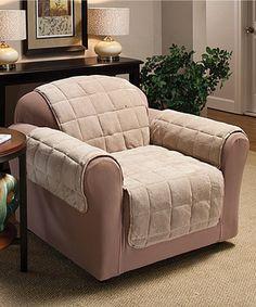 Look at this #zulilyfind! Cream Plush Chair Furniture Protector by Jeffrey Fabrics #zulilyfinds
