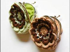 Cómo hacer un monedero con anillas en forma de flor y con boquilla parte 2 Crochet Granny, Knit Crochet, Can Tab Crafts, Pop Tabs, Frame Purse, Pinterest Projects, Crochet Purses, Crochet Videos, Yarn Crafts