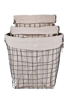Home Essentials And Beyond   Round Metal Basket With Liner   Set Of 3 At  Nordstrom