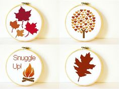 Counted Cross stitch Pattern Collection PDF. by CharlotteAlexander, $13.50 Cross Stitch Pattern Maker, Counted Cross Stitch Patterns, Cross Stitch Embroidery, Fall Cross Stitch, Cross Stitch Collection, Fall Crafts, Cross Stitching, Just In Case, Sewing Projects