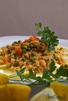 couscous piselli e gamberetti