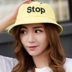 Letter embroidered bucket hat uv package sun hats for youth