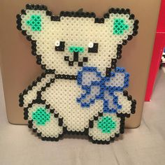 Teddy bear perler beads by perlerqueeen
