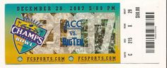 2007 Champs Bowl Game Full Ticket Boston College Michigan State....if you like this you can find many more college bowl game tickets for sale at www.everythingcollectibles.biz
