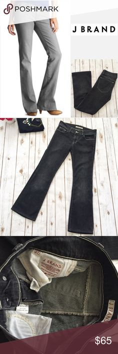 """J Brand Ash Boot Cut Low Rise Jeans You're looking at a gorgeous pair of J Brans jeans in """"Ash"""", which is a darker gray as pictured (darker than vertical pic on cover shot) These are a size 27. Unstretched measurements are as follows: waist 30"""", rise 8.5"""", and inseam 29.25"""". They've been worn only once right after I purchased them from Nordstrom last year and are in excellent condition.  Prices $15 and under are non-negotiable. No holds or trades. I am unable to model. PoshMark rules only…"""