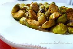 Roasted Brussel Sprouts: One of my favorite side dishes. Vinegar optional. Yet to find a vegetable that isn't better roasted.