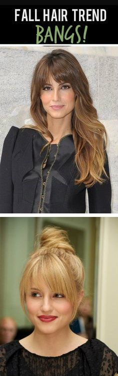Fall Hair Trend: Bangs/Fringe! No matter if they are bold or side-swept, 'tis the season to bang it up! #hairtrends #bangs