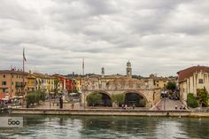 City on the shores of Garda Sea. Italy north. by moonlotus87 on 500px