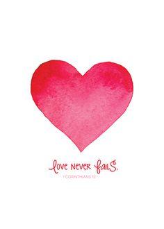Love Never Fails Free 5x7 Print - One Happy Mama