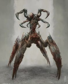 More realistic looking drow drider Dark Creatures, Humanoid Creatures, Fantasy Creatures, Mythical Creatures, Monster Concept Art, Fantasy Monster, Monster Art, Arte Horror, Horror Art