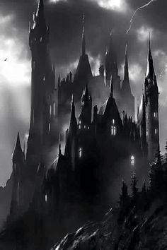 Fantasy art dark castles new Ideas Dark Fantasy Art, Fantasy City, Fantasy Castle, Fantasy Places, Fantasy World, Dark Art, Gothic Castle, Dark Castle, Gothic Horror