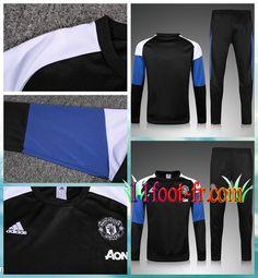 Survet De Foot FC Manchester United Homme 16/17 Noir/Bleu