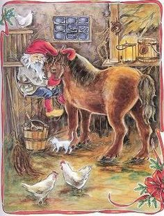 ingrid elf Troll, Childrens Christmas Books, Legends And Myths, Cat Cards, Leprechaun, Merry Xmas, Beautiful Christmas, Gnomes, Coloring Books