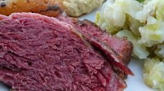 Corned beef is covered in Irish stout and brown sugar then slow roasted in the oven until tender. This St. Patrick's Day staple is so good your friends and family may request it all year long. Corned Beef Brisket, Oven Roasted Corned Beef, Cooking Corned Beef, Corned Beef Recipes, Slow Cooker Recipes, Cooking Recipes, Healthy Recipes, Healthy Food, Ireland
