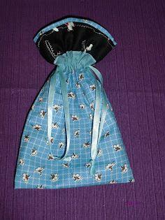 PINTA ROXA: Saco em tecido pap.