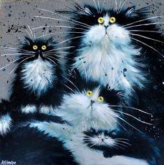 * =(^X^)= tableaux de Kim Haskins (poes /cat )