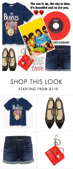 """""""Band Tees"""" by shoaleh-nia ❤ liked on Polyvore featuring Charlotte Olympia, 3x1, Versus and Brewster Home Fashions"""