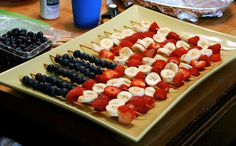 Fruit skewers for Independence Day or 4th of Ju-luau!