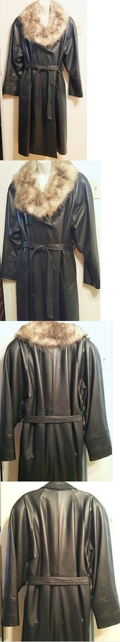 87db5109e688b Coats Jackets and Vests 175783  Xl Xxl 18 20 22 1X 2X New  2500 Leather  Black Womens Trench Coat Fur -  BUY IT NOW ONLY   449 on  eBay  coats   jackets ...
