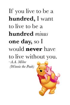 A.A. Milne & Winnie the Pooh #love #quote