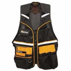 """Tool Vest :Tool Compartments - For easy carriage and access to most frequently used tools      Adjustable to your physique      Air mesh enables vest to """"breathe"""" during hot weather conditions Reflective strips for safety, better visibility especially in the dark      Extra strengthening      Personal storage compartments - Easy access to personal belongings       Inner concealed document pockets - Allows to hold and secure important papers and documents"""