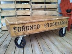 reclaimed pallet coffee tables - city of toronto furniture for