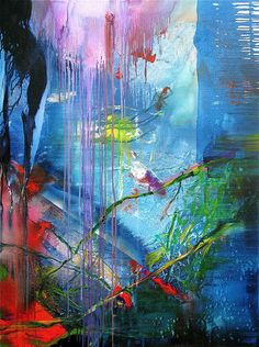 Bird (by stricher gerard) Abstract painting