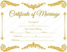 fake royal corner marriage certificate template