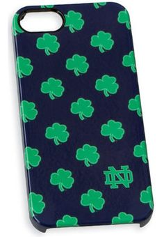 This perfect Notre Dame shamrock case fits the iPhone 5/5s.