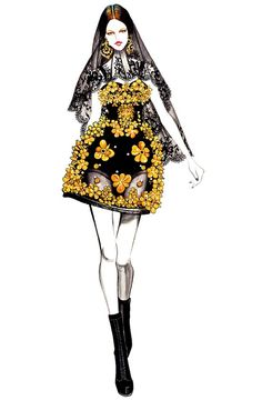 Fashion illustration Dolce & Gabbana