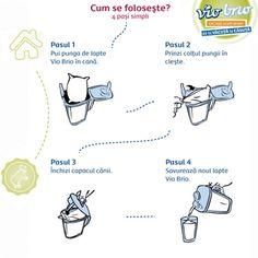 Instrucțiunile de folosire a cănii pentru lapte Vio Brio. Simplu, util și economic!