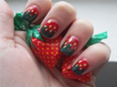 Nail Tutorial: Spring Time Strawberries..eventhough I'm allergic