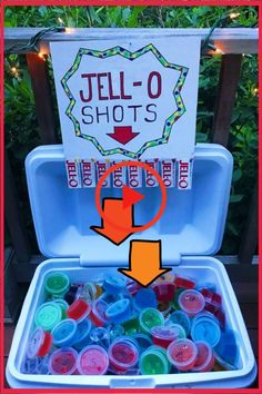 Labor Day Party Ideas - Fun Cookout Food and Drinks Recipes - BBQ Cookout food ideas - try this easy jello shots recipes to learn how to make jello shots in a cooler for a cookout party, pool party, beach party (spring break!) or any summer party. 21 Party, Party Time, Party Fun, Taco Party, Fiesta Party, Prom Party, 18th Birthday Party, Summer Birthday, Cake Birthday