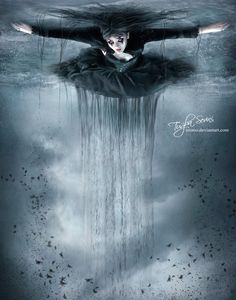 Pool OF FearS by intano on DeviantArt Dark Gothic Art, Dark Fantasy Art, Dark Art, Gothic Pictures, Evil Demons, Strange Events, Goth Art, Fantastic Art, Dark Beauty