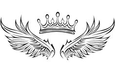 Discover recipes, home ideas, style inspiration and other ideas to try. Card Tattoo Designs, Crown Tattoo Design, Wing Tattoo Designs, Tattoo Design Drawings, King Tattoos, Dad Tattoos, Body Art Tattoos, Sleeve Tattoos, Wing Neck Tattoo