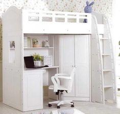 Kids loft bed with desk. Ikea Luxury Kids Loft Beds With Desk Nininik Luxury Kids Loft Beds With Desk Glamorous Bedroom Design Cool Loft Beds, Loft Bunk Beds, Modern Bunk Beds, Kids Bunk Beds, Teen Loft Beds, Low Loft Beds For Kids, Modern Loft, Modern Bedroom, Bunk Bed With Desk